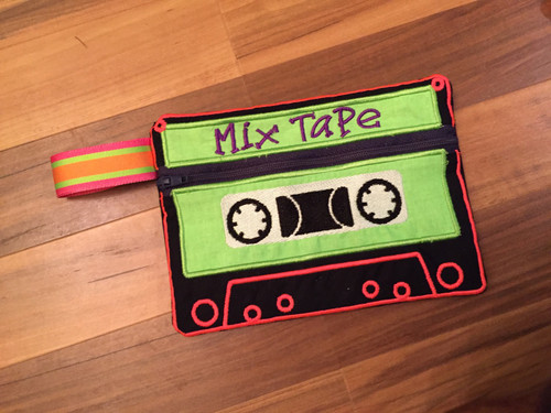 In The Hoop Cassette Tape Bag