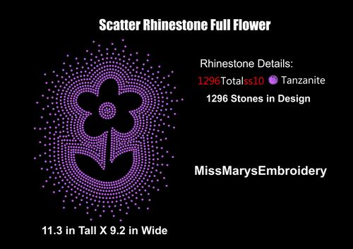Scatter Rhinestone Full Flower