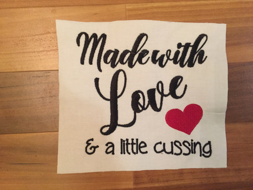 Made with Love & Cussing Embroidery