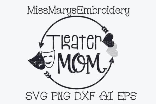 Theater Mom Arrow Monogram