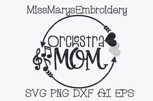 Orchestra Mom SVG