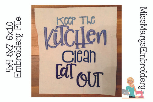 Eat Out Kitchen Embroidery