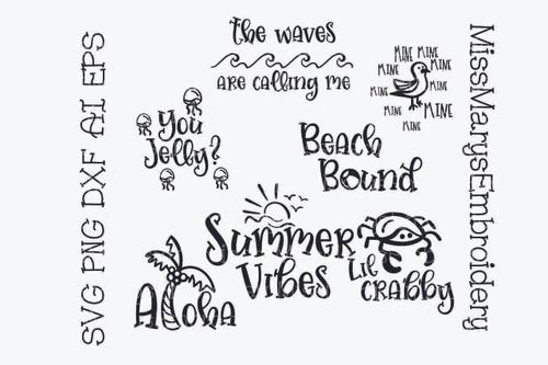 Summer Beach Saying Bundle