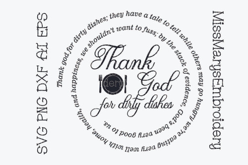 Thank God For Dirty Dishes