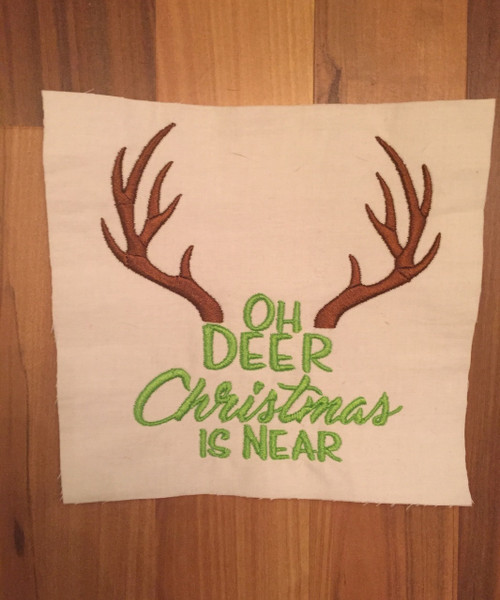 Christmas Near Deer