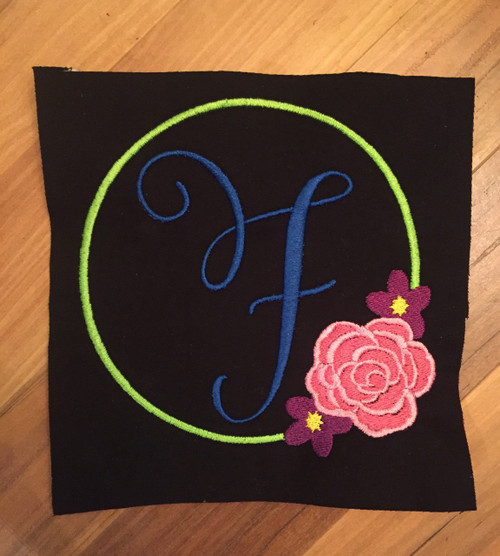 Flower Monogram Emboridery