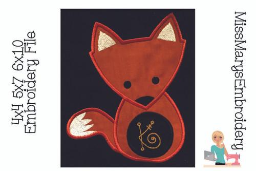 Fox Applique Monogram