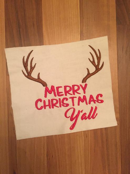 Merry Christmas Ya'll Embroidery