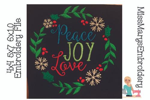 Peace Love Joy Circle