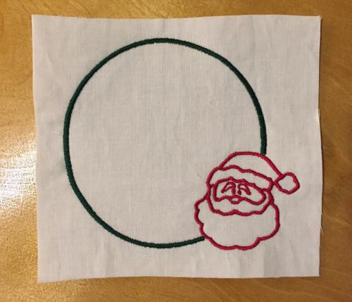 Santa Monogram Frame