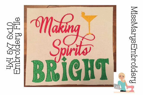 Making Spirits Bright Embroidery