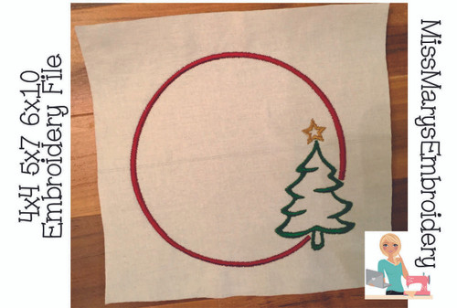Christmas Tree Monogram Embroidery Frame