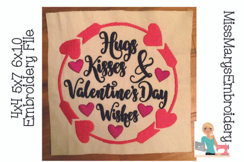 Valentine's Day Wishes Embroidery