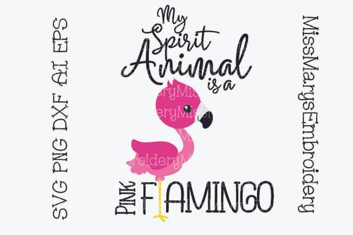 Pink Flamingo Spirit Animal SVG