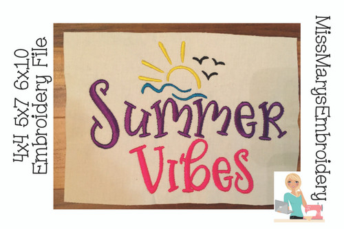 Summer Vibes Embroidery