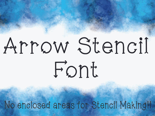 Arrow Stencil Font