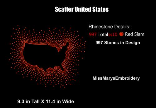 Scatter Rhinestone USA