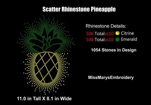 Scatter Rhinestone Pineapple