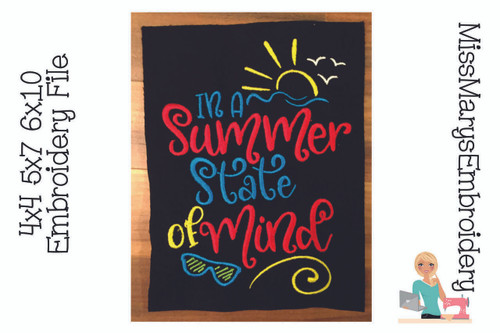 Summer State of Mind Embroidery