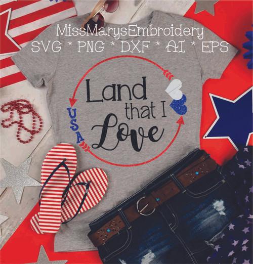 Land I Love SVG