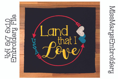 Land that I love Embroidery