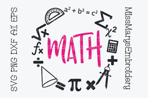 Math Subject Frame