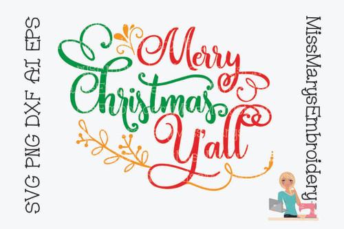 Merry Christmas Ya'll SVG