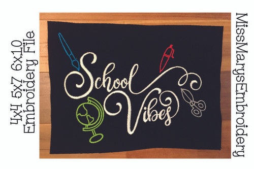 School Vibes Embroidery