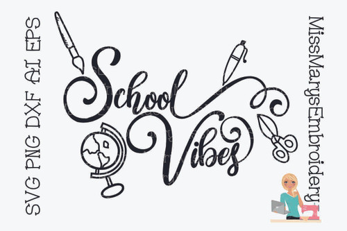 School Vibes SVG