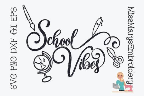 School Vibes SVG