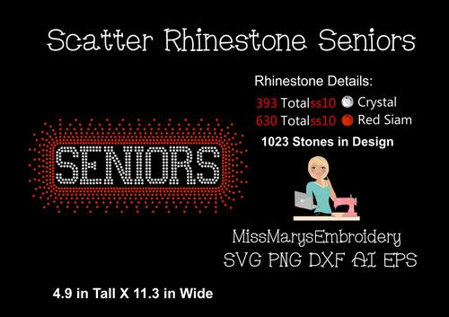 Scattered Rhinestone Seniors