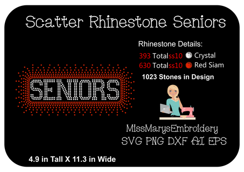 Scattered Rhinestone Seniors