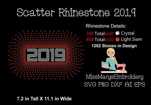 Scattered Rhinestone 2019