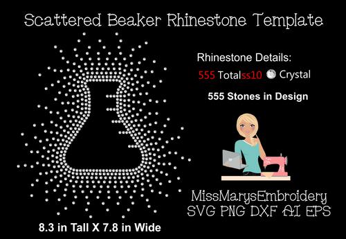 Scattered Rhinestone Beaker