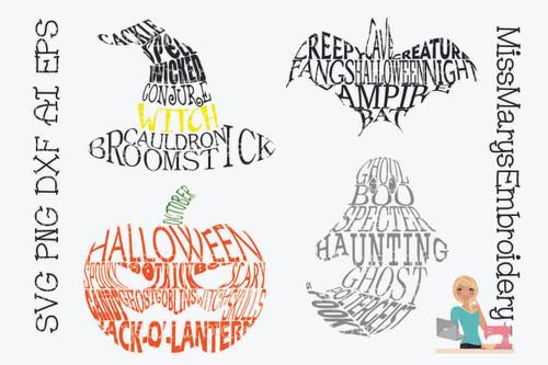 Halloween Word Shapes