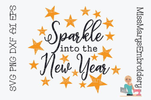 Sparkle Into the New Year SVG