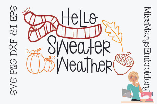 Hello Sweater Weather SVG