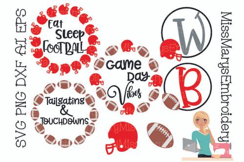 Football Monogram Set
