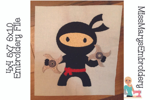 Ninja Embroidery
