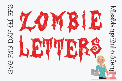 Zombie Letters SVG