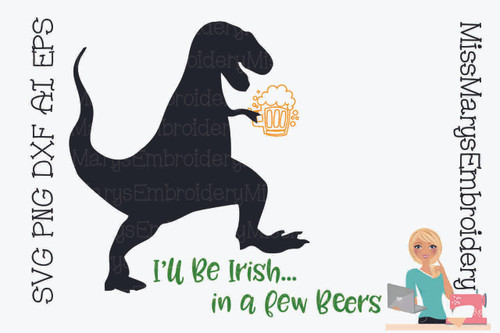 Irish T-Rex SVG