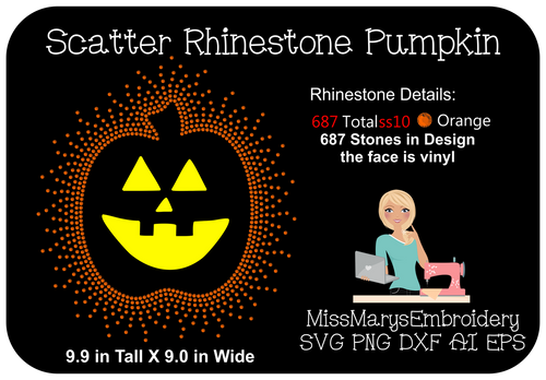 Halloween Pumpkin Rhinestone