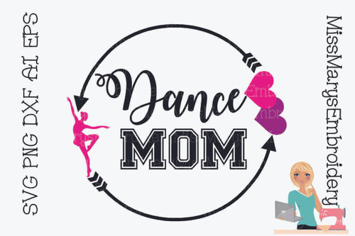 Dance Mom Arrow Monogram