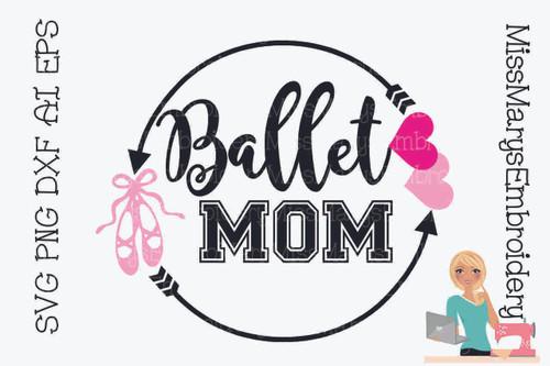 Ballet Mom Arrow Monogram