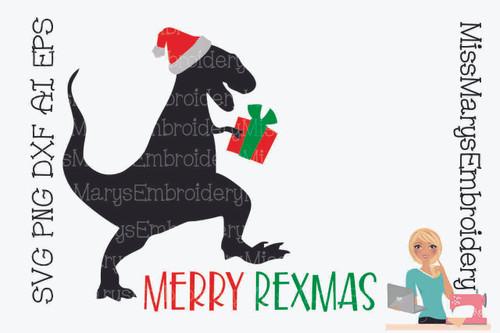 Merry Rexmas Santa T-Rex