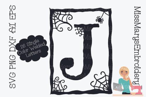 Spider Web Frame Letters