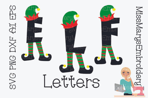 Elf Letters SVG