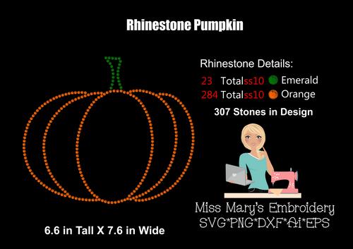 Rhinestone Pumpkin 2