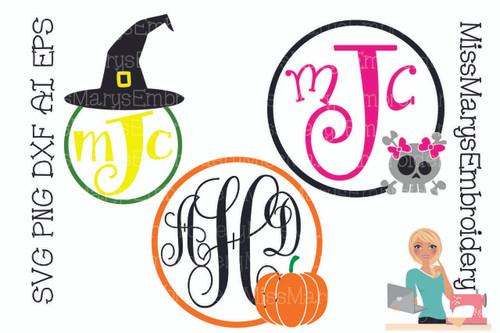 Halloween Monograms