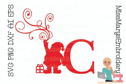 Santa Swirl Letters